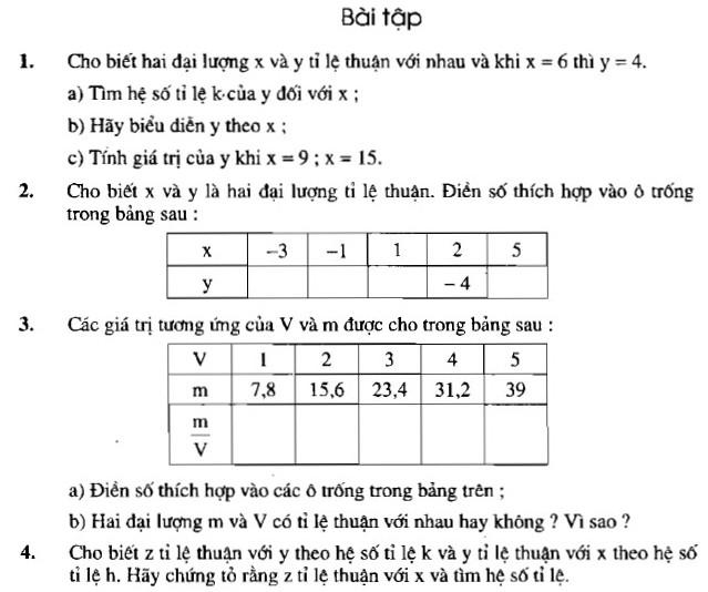 Giải bài 1 2 3 4 trang 53 54 sgk toán 7 tập 1