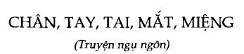Soạn bài Chân Tay Tai Mắt Miệng sgk Ngữ văn 6 tập 1