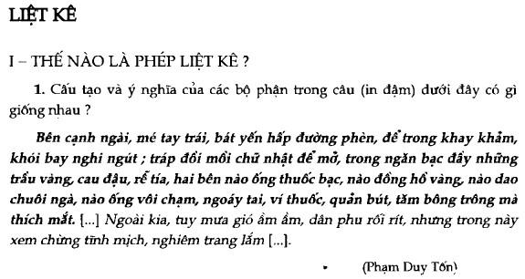Soạn bài Liệt kê sgk Ngữ văn 7 tập 2