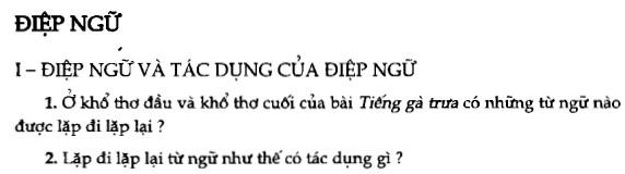 Soạn bài Điệp ngữ sgk Ngữ văn 7 tập 1