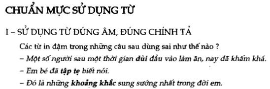 Soạn bài Chuẩn mực sử dụng từ sgk Ngữ văn 7 tập 1