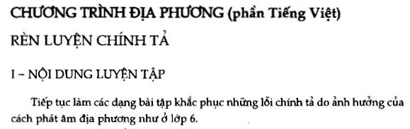 Soạn bài Chương trình địa phương (phần Tiếng Việt) sgk Ngữ văn 7 tập 1