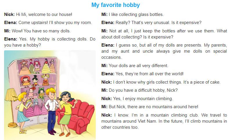 Unit 1: My hobbies trang 6 sgk Tiếng Anh 7 tập 1