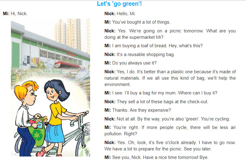 Unit 11: Our greener world trang 48 sgk Tiếng Anh 6 tập 2