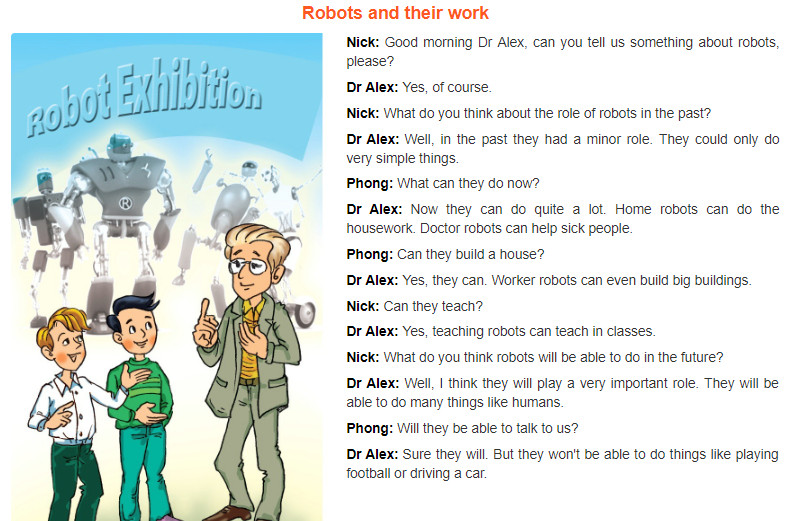 Unit 12: Robots trang 58 sgk Tiếng Anh 6 tập 2