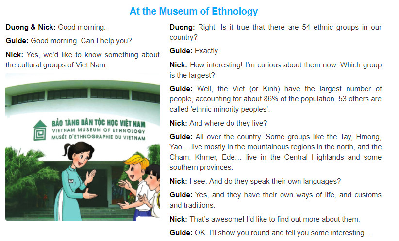 Unit 3: Peoples of Viet Nam trang 26 sgk Tiếng Anh 8 tập 1