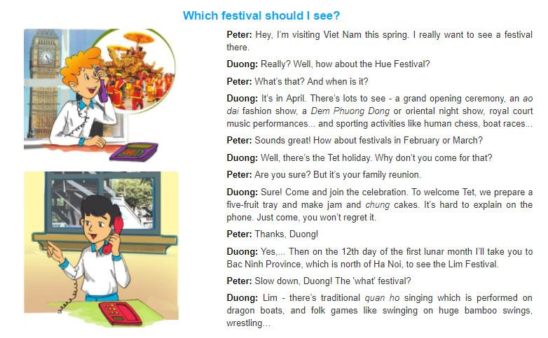 Unit 5: Festivals in Viet Nam trang 48 sgk Tiếng Anh 8 tập 1