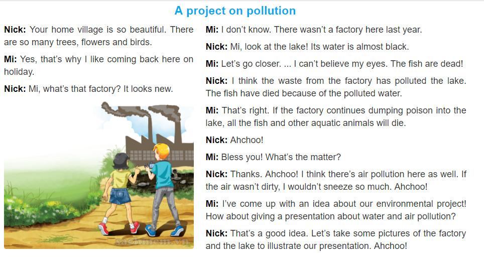 Unit 7: Pollution trang 6 sgk Tiếng Anh 8 tập 2