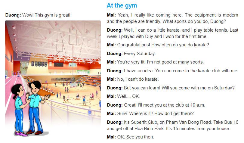 Unit 8: Sports and games trang 16 sgk Tiếng Anh 6 tập 2