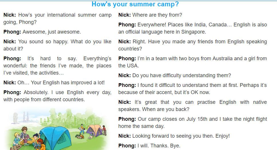 Unit 8: English speaking countries trang 16 sgk Tiếng Anh 8 tập 2