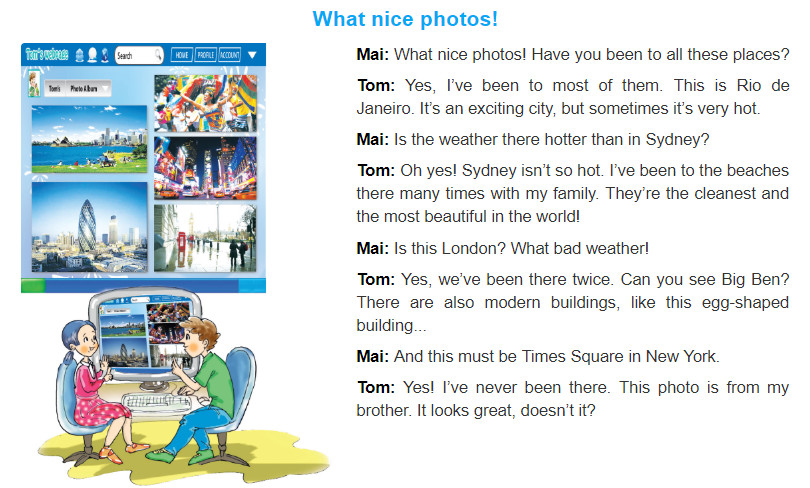 Unit 9: Cities of the world trang 26 sgk Tiếng Anh 6 tập 2