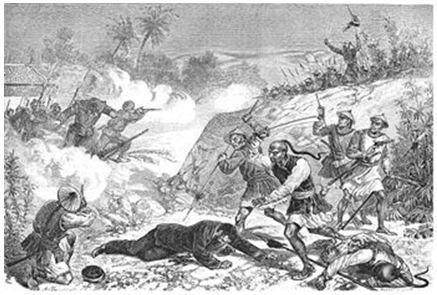 Gác-ni-ê tử trận tại Cầu Giấy (21/12/1873)